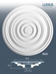 Deckenrosette Stuck Orac Decor R40 LUXXUS Rosette Decken Wand Dekor Element hochwertig stabil | 74, 50 cm Durchmesser