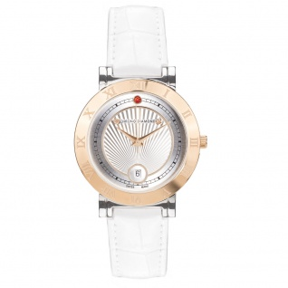 Chrono Diamond Damenuhr Ilka Roségold IP Silber 12810G