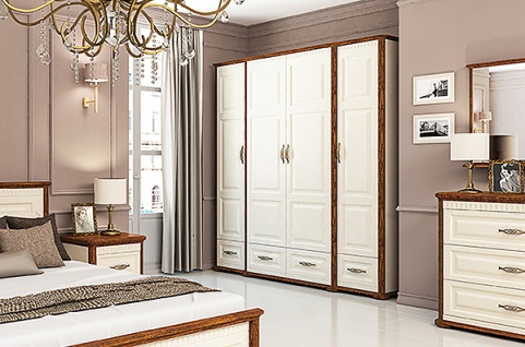 kleiderschrank creme online bestellen bei yatego. Black Bedroom Furniture Sets. Home Design Ideas