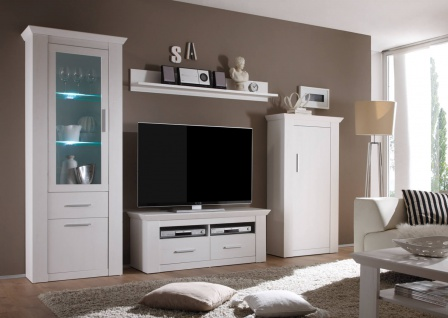 wohnwand anbauwand mediawand highboard garden 290cm pinie. Black Bedroom Furniture Sets. Home Design Ideas