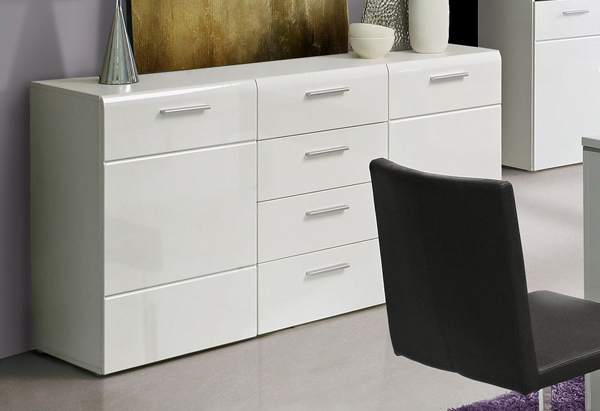 sideboard anrichte wei hochglanz 150cm neu kaufen bei feldmann wohnen gmbh. Black Bedroom Furniture Sets. Home Design Ideas