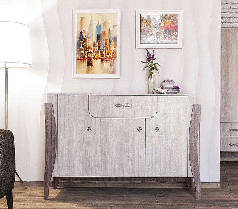 Sideboard Wohnzimmer Kommode Soft Close Funktion 146cm Esche Hell