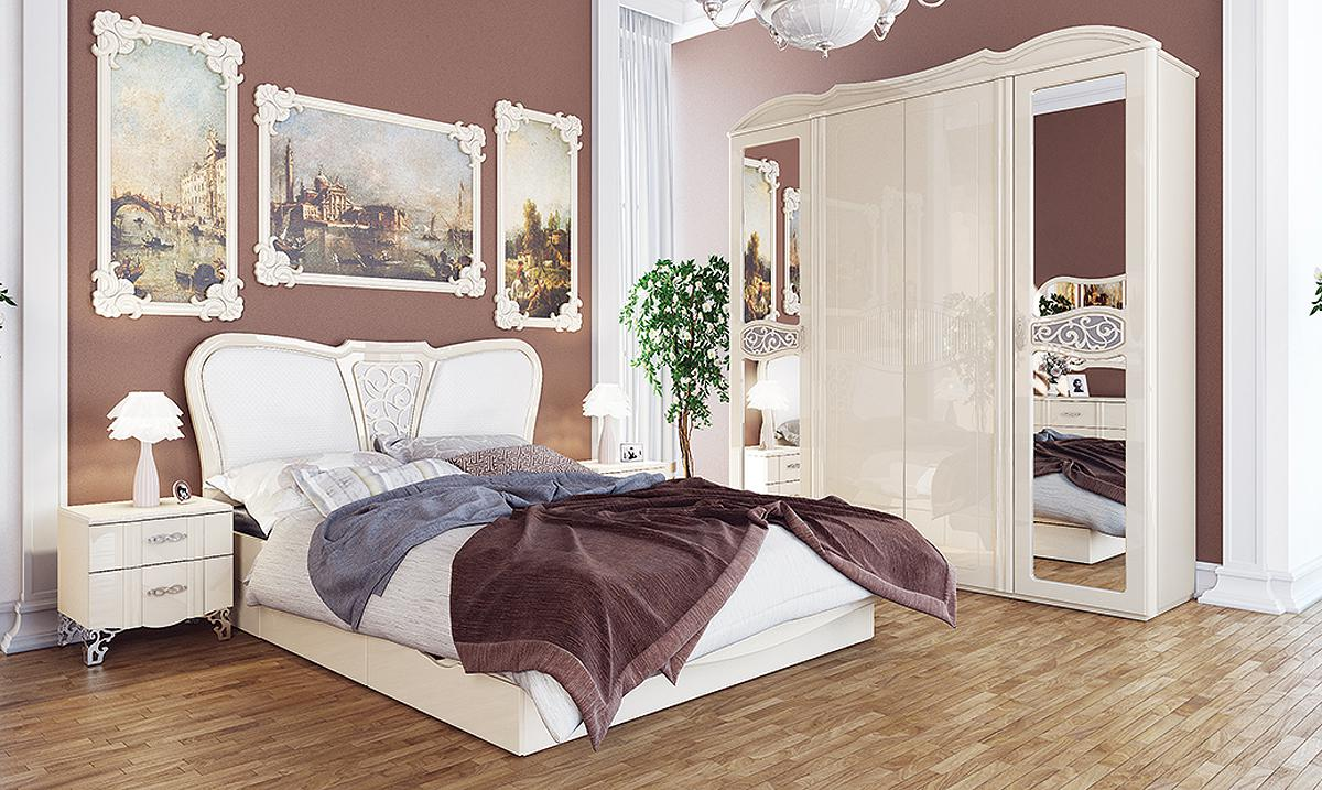 schlafzimmer set kleiderschrank bett 160x200cm nachtkonsole creme creme hoc kaufen bei. Black Bedroom Furniture Sets. Home Design Ideas