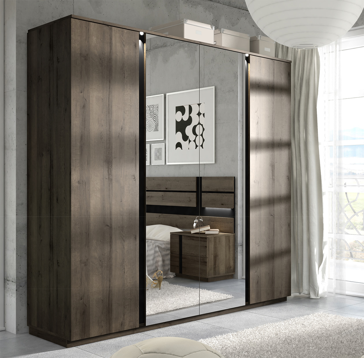 kleiderschranke dunkel. Black Bedroom Furniture Sets. Home Design Ideas