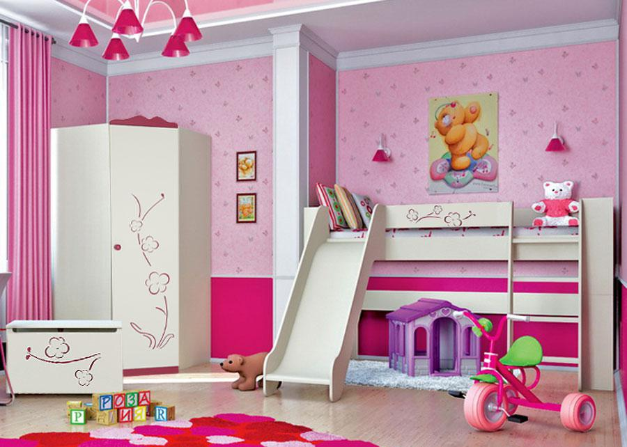 jugendzimmer kinderzimmer set hochbett mit rutsche 80 x 190 cm creme bordea kaufen bei. Black Bedroom Furniture Sets. Home Design Ideas