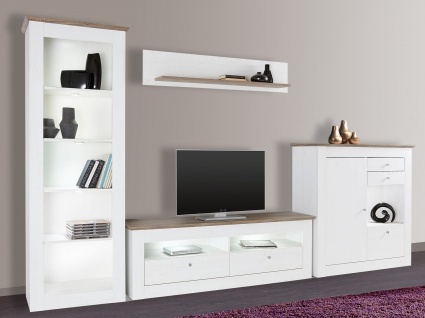 wohnwand eiche dunkel online bestellen bei yatego. Black Bedroom Furniture Sets. Home Design Ideas