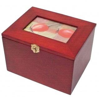 SAFE 5870 Postkartenbox Kassette aus Holz mahagonifarbend mit wechselbarer Deko Karte + 5 Leitkarten für bis zu 400 Karten - Vorschau 4
