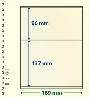 10 x LINDNER 802209P T-Blanko-Blätter Blankoblatt 18-Ring Lochung - 2 Taschen 96 / 137 x 189 mm
