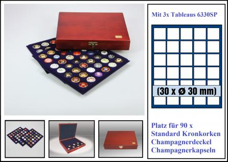 SAFE 5898 Elegance Holz Sammelkassetten 90x Kronkorken - Champagnerkapseln - Champagnerdeckel - Vorschau 1