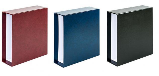 KOBRA G50K Schwarz Schutzkassette - Kassette Für das Lageralbum Album Sammelalbum Ringbinder DIN A4