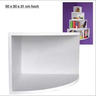 """SAFE 5355 Deko Präsentations Eck-Boards """" Syno Weiss """" XL - ExtraLarge L 50 x H 50 x T 33 cm - Für alle Ihre Schätze von A - Z"""