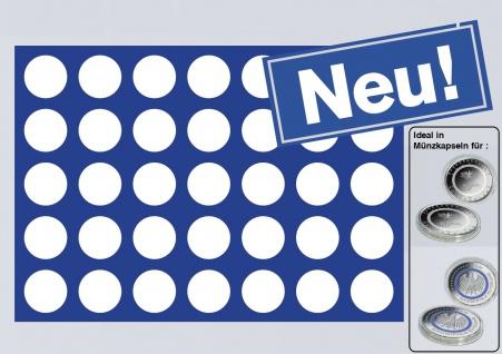 1 x SAFE 280 Blaue Münztableaus 35 Münzen bis 34 mm für 5 Euro Blauer Planet & Klimazonen - 10 Euro Luft bewegt in Münzkapseln