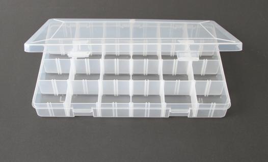 SAFE 5252 Transparente Kleinboxen Setzkasten Kunststoff Universal mit Deckel & 24 Runden Dosen 35 mm Höhe 17 mm - Vorschau 4