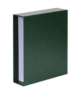 LINDNER 3504-G Grün Schutzkassette Kassette Schuber für PUBLICA L Ringbinder 3503