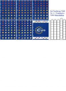 SAFE 7340-0 Set Premium Ergänzungsblätter Nachtrag Nr 1-5 Euro KMS Vordruckblatt Andorra - Zypern