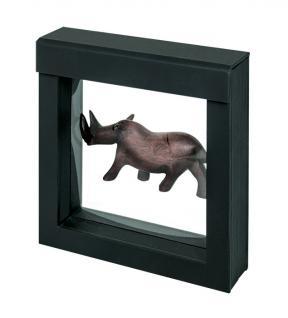 LINDNER 4839 NIMBUS 100 Schwarz Sammelrahmen Schweberahmen 3D 100x100x25 mm Für Glas Holz Metall Miniaturen Figuren