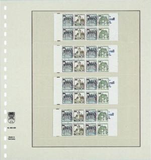 1 x LINDNER 802420 T-Blanko-Blätter Blankoblatt 18-Ring Lochung 4 Taschen 55 / 56 / 55 / 56 x 189 mm - Vorschau 2