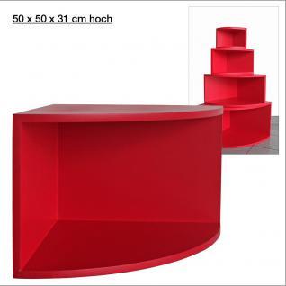 """SAFE 5357 Deko Präsentations Eck-Boards """" Syno Rot """" XL - ExtraLarge L 50 x H 50 x T 33 cm - Für alle Ihre Schätze von A - Z"""