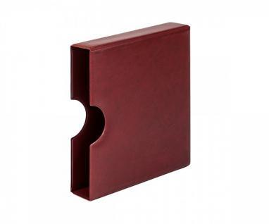 LINDNER 810K-W Schutzkassette Kassette mit Griffmulde Weinrot - Rot für Karat Ringbinder Münzalbum
