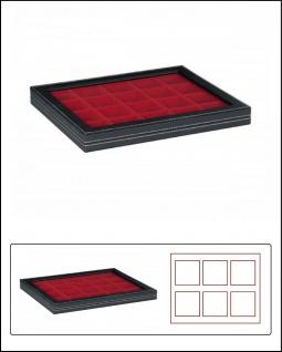 LINDNER 2367-2820E Nera M PLUS Sammelkassetten Hellrot Fenster 20x 47x47x18, 5mm