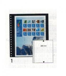 10 x LINDNER 01P Omnia Einsteckblätter schwarz 1 Streifen x 293 mm Streifenhöhe Für Aktien & Briefe & Banknoten