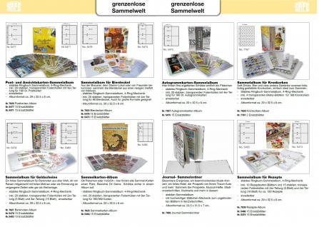 50 x SAFE 5475 Autogrammkartenhüllen Hüllen Ergänzungsblätter DIN A4 4er Teilung für bis zu 400 Autogramme & Autographen - Vorschau 4