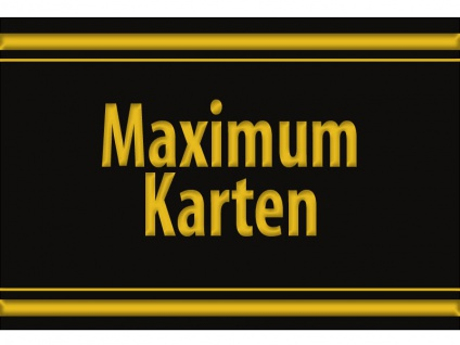 "1 x SAFE 1130 SIGNETTE Aufkleber selbstklebend "" Maximum Karten """