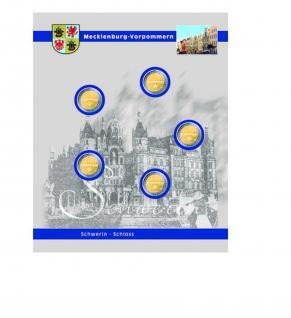 1 x SAFE 7821-2 TOPset Ergänzungsblatt Münzhüllen für 5x 2 Euromünzen Deutsche Bundesländer Mecklenburg Vorpommern Schweriner Schloß 2007