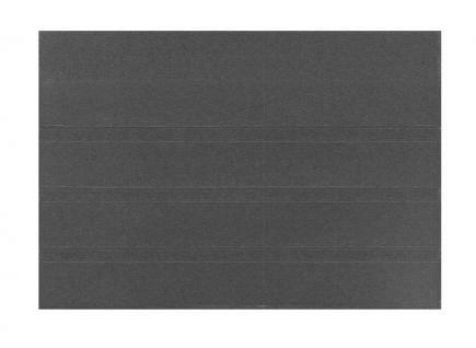 100 x HAWID HA504000 DIN A5 Schwarze Einsteckkarten Steckkarten Klemmkarten 210 x 148 mm 4 Streifen