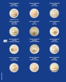 1 x SAFE 7302-3 TOPset Münzblätter Ergänzungsblätter Münzhüllen mit farbigem Vordruckblatt für 2 Euromünzen Gedenkmünzen in Münzkapseln 26 - 2007