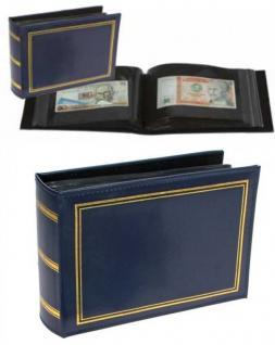 SAFE 4140 Banknotenalbum Blau Standard Innenmaße 195 x 130 mm Für 100 Banknoten Geldscheine Papiergeld Notgeld