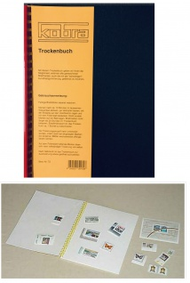 KOBRA T2 Luxus Trockenbuch Trockenbücher DIN A4 cellophanierter Spiraleinband 10 Löschblätter + ZWL Zwischenblätter