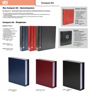 SAFE 480-2 Compact A4 Classic Rot Sammelalbum Album Ringbinder Für Münzen Briefmarken Postkarten Ansichtskarten Pins Orden Bierdeckel Spielkarten Sportkarten usw. - Vorschau 2