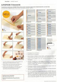 10 x LINDNER 804o Blanko-Blätter Weiß DIN A4 unbedruckt 18-Ring Lochung Format 291x297mm - Vorschau 3