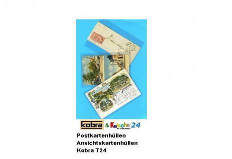 100 KOBRA T24 Postkartenhüllen Hüllen PPN Folie altes Format Postkarten Ansichtskarten 95 x 145 mm