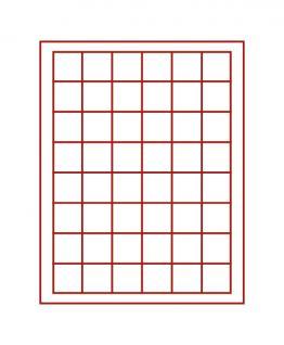 LINDNER 2367-2148E Nera M Sammelkassetten Hellrot Rot + Sichtfenster 48 Fächer 30x30 mm Für 48 Champagnerdeckel Champagnerkapseln - Vorschau 2