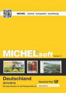 MICHELsoft Briefmarken Deutschland 2015/2016 - Version - PORTOFREI in DEUTSCHLAND