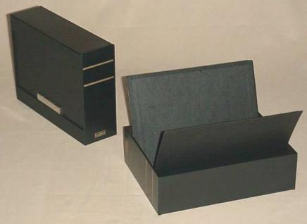 KOBRA KS Patent - Kassette aus schwarzem Kunststoff leer Für Einsteckkarten Steckkarten DIN A6 C6 A5 - Vorschau 2