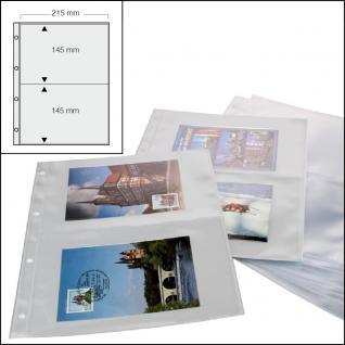 100 x SAFE 5477 Standard A4 Ergänzungsblätter Hüllen 2er Teilung 215x145mm Postkarten Ansichtskarten