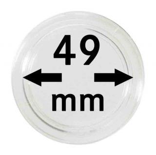 5 LINDNER Münzkapseln / Münzenkapseln Capsules Caps 49 mm 2250049P