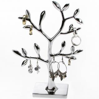 SAFE 73827 Design Schmuckständer Schmuckbaum Silberfarbend XL 21 cm für Schmuck & Ohrringe & Ringe