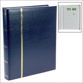 SAFE 156-4 Briefmarken Einsteckbücher Einsteckbuch Einsteckalbum Einsteckalben Album Blau wattiert 64 geteilte weissen Seiten