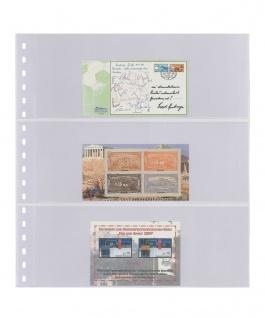 1 x LINDNER 823 Klarsichthüllen mit 3 Taschen 242 x 90 mm Für Banknoten Briefe MH
