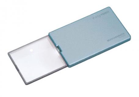 LINDNER 7184 Eschenbach Taschenlupe Leuchtlupe im Sckeckkarten Format easyPocket 4 fach mit LED - Vorschau 1