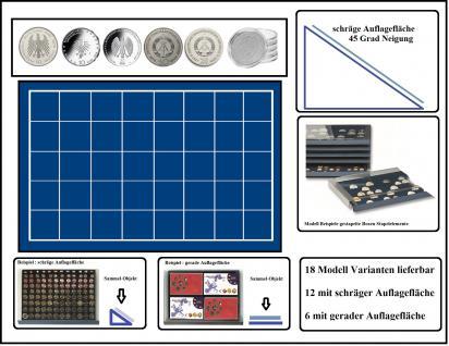 SAFE 6438 Stapelelement Münzbox Münzen-SAFE schräge Fläche blaue Einlage 40 eckige Fächer 38 mm - Ideal für 10 DM & 10 - 20 Mark DDR & Deutsche 10 - 20 Euro Münzen in Münzkapseln