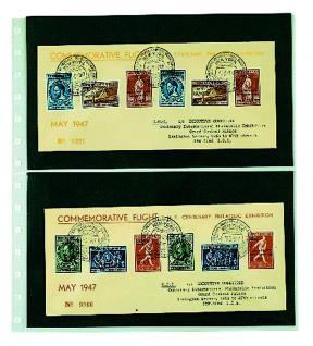 5 x SAFE 752 Einsteckblätter Spezialblätter Favorit 2 Taschen 245 x 145 mm für 4 Briefe Ganzsachen