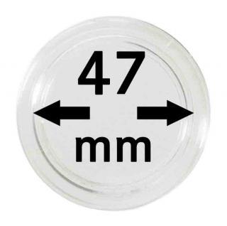 5 LINDNER Münzkapseln / Münzenkapseln Capsules Caps 47 mm 2250047P