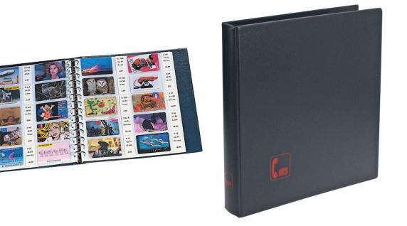 SAFE 7579 Ringbinder Favorit Blau Telefonkartenalbum mit 5 Hüllen 7555 Für 50 Telefonkarten