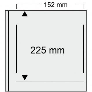 SAFE 525-1 Weinrot - Rot Universal Album Ringbinder + 10 Hüllen - 1 Tasche 152 x 225 mm Für DIN A5 & ETB's Ersttagsbriefe - gr. Briefe - Banknoten - Vorschau 2