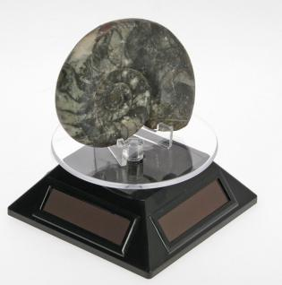 SAFE 5332 Solarbetriebene Drehbarer Deko Drehteller Display Ständer Präsentierteller 90 mm Schwarz Für Schmuck - Uhren - Antiquitäten - Mineralien - Fossilien - Figuren - Modellbau - Vorschau 3